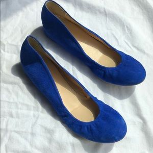 Jcrew electric blue flats in Size 9